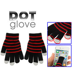 Dot Gloves of Touch Screen for iPhone 5 iPhone 4 & 4S / iPad / iPod Touch BlackBerry HTC and other Touch Screen Mobile Phones(Red)