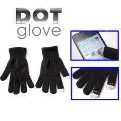 Dot Gloves of touch screen for iPhone 5 iPhone 4 & 4S iPhone 3G/3GS iPhone iPad BlackBerry(Black)