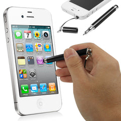 2 in 1 Stylus Touch Pen + Ball Pen for iPhone 4 & 4S / 3GS / 3G / iPad 2 / iPad / All Capacitive Screen Products (Black)