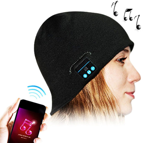 Bluetooth Headset Warm Winter Hat for Smart Phones