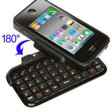 Mini Bluetooth Keyboard Leather Case for iPhone 4 - Zasttra.com - 1