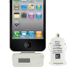 FM Transmitter with Car Charger for iPhone 4 & 4S / 3GS / 3G / iPod