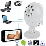 Wifi Point-to-point with Infrared Night Vision Light/ Record / Monitoring Function for Apple iOS and Android 2.3 Version above Mobile Phone and Computer (White)