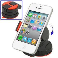 Car Universal Mini Holder for iPhone 4 & 4S/ 3GS/ 3G/ Mobile Phone/ GPS/ PDA/ MP3/ MP4 Width: 52mm-85mm(Red)