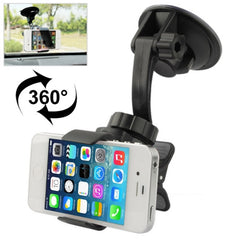 Car Universal Holder for iPhone 4 & 4S / Other Mobile Phones / PSP / PAD / MP4 Support 360 Degree Rotation