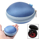 Grid Style Carrying Bag Box for Headphone / Earphone (Blue)