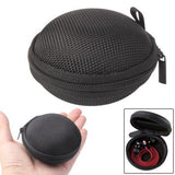 Grid Style Carrying Bag Box for Headphone / Earphone (Black)