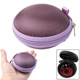 Grid Style Carrying Bag Box for Headphone / Earphone (Purple)