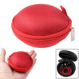 Grid Style Carrying Bag Box for Headphone / Earphone (Red)