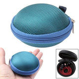 Grid Style Carrying Bag Box for Headphone / Earphone (Turquoise)