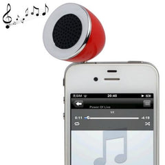 3.5mm Mobile Phone Speaker for iPhone 4 & 4S / 3GS / 3G / iPod  iPad  MP3(Red)