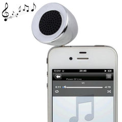 3.5mm Mobile Phone Speaker for iPhone 4 & 4S / 3GS / 3G / iPod  iPad  MP3(Silver)