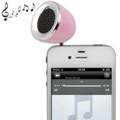 3.5mm Mobile Phone Speaker for iPhone 4 & 4S / 3GS / 3G / iPod  iPad  MP3(Pink)