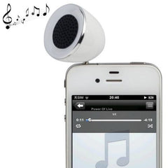 3.5mm Mobile Phone Speaker for iPhone 4 & 4S / 3GS / 3G / iPod  iPad  MP3(White)