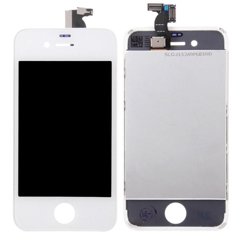 iPartsBuy 3 in 1 for iPhone 4S (LCD + Frame + Touch Pad) Digitizer Assembly(White)