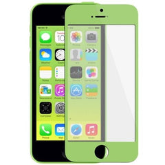 Front Screen Outer Glass Lens / LCD Mirror for iPhone 5C (Green)