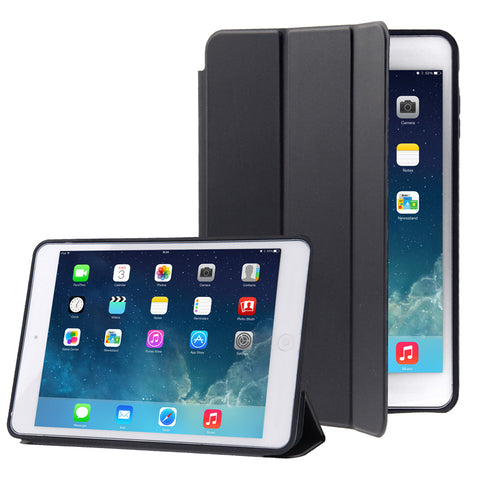 Naturally Treated Leather Smart Case for iPad Air (Black)