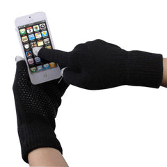 Antislip Dot Gloves of Touch Screen for iPhone 5iPhone 4 & 4S / iPad / iPod touchSamsungSony EricssonHTC and other Touch Screen Mobile Phones(Black)