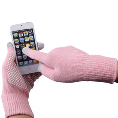 Antislip Dot Gloves of Touch Screen for iPhone 5iPhone 4 & 4S / iPad / iPod touchSamsungSony EricssonHTC and other Touch Screen Mobile Phones(Pink)