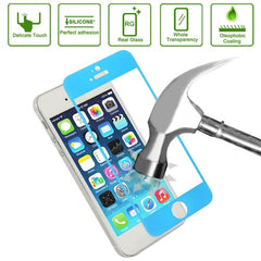 Link Dream 0.33mm Explosion-proof Tempered Glass Film Screen Protector + Mobile Phone Holder for iPhone 5 & 5S(Blue)