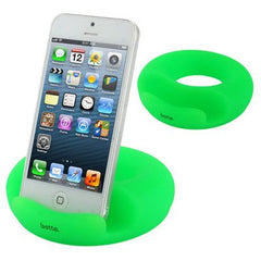 Betta Series Universal Donuts Style Silicone Docking for iPhone 5 & 5C & 5S / iPad  / iPhone 4 & 4S / Other Mobile Phone / Tablet PC (Green)
