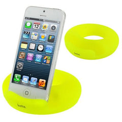Betta Series Universal Donuts Style Silicone Docking for iPhone 5 & 5C & 5S / iPad  / iPhone 4 & 4S / Other Mobile Phone / Tablet PC (Yellow)