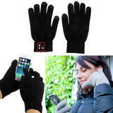 Hi-Call Bluetooth 3.0 Talking Touch Gloves Support Hands-free / Touch Function(Black)