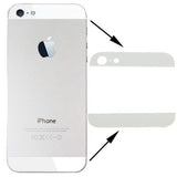 iPartsBuy Original Back Cover Top & Bottom Glass Lens for iPhone 5(White)