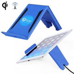 Itian A6 2 in 1 Universal Standard Wireless Charging Transmitter with Holder Stand for iPhone / iPad / Samsung Galaxy / Nokia / HTC and other Mobile Phones(Blue)