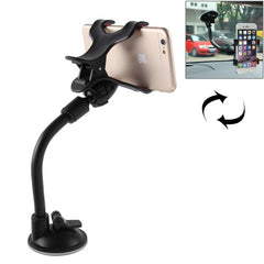 Universal 360 Degree Rotation Suction Cup Car Holder / Desktop Stand for All Mobile / MP4 / PDA / PSP / GPS Size Range: 3.5cm - 8.3cm(Black)