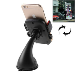 Universal 360 Degree Rotation Suction Cup Car Holder / Desktop Stand for All Smartphones Size Range: 4.8 - 5.5 Inch(Black)