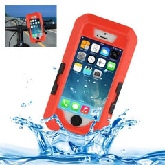 Bicycle Waterproof Case with Rotating Bike Holder Mount for iPhone 5 & 5s & SE(Red)