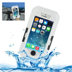 Bicycle Waterproof Case with Rotating Bike Holder Mount for iPhone 5 & 5s & SE(White)