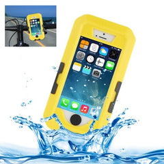 Bicycle Waterproof Case with Rotating Bike Holder Mount for iPhone 5 & 5s & SE(Yellow)
