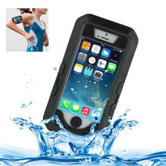 Bicycle Waterproof Case with Wrist Strap and Lanyard for iPhone 5 & 5s & SE(Black)