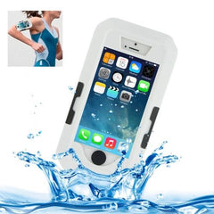Bicycle Waterproof Case with Wrist Strap and Lanyard for iPhone 5 & 5s & SE(White)