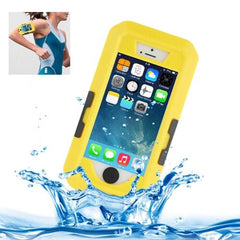 Bicycle Waterproof Case with Wrist Strap and Lanyard for iPhone 5 & 5s & SE(Yellow)