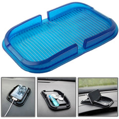 Car Dashboard Anti-skid Magic Sticky Silicone Gel Pad / Holder for iPhone 5 & 5S / iPhone 4 & 4S(Blue)
