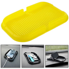 Car Dashboard Anti-skid Magic Sticky Silicone Gel Pad / Holder for iPhone 5 & 5S / iPhone 4 & 4S(Yellow)