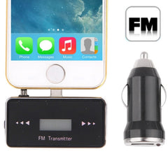 FM Transmitter Radio Transmitter Wireless FM with 3.5mm Jack 5V 1A USB Car Charger for iPhone 5 & 5S(Black)