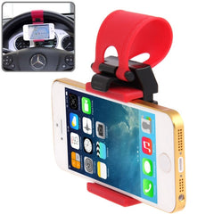 Car Steering Wheel Phone Socket Holder for iPhone 5 & 5C & 5S / iPhone 4 & 4S /Samsung Galaxy S IV / Galaxy SIII / Perfect Fits for 4.8 inches Mobile Phones