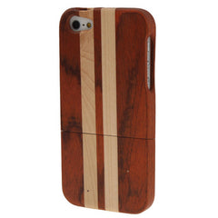 Deep Color Wood & Bamboo Material Detachable Wood Material Case for iPhone 5