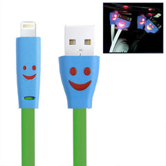Smile Pattern Noodle Style USB Sync Data / Charging Cable for iPhone 6 & 6 Plus iPhone 5 & 5S & 5C iPad Air iPad mini / mini 2 Retina iPad 4 iPod touch 5 / 6 Length: 1m(Green)