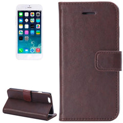 Crazy Horse Texture Horizontal Flip Leather Case with Card Slots and Holder for iPhone 6 & 6S(Coffee)