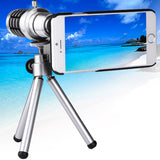 12 X Mobile Telephoto Lens with Tripod and Phone Case for iPhone 6