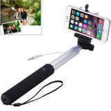 Portable Aluminium Alloy Selfie Stick Monopod Extendable Handheld Holder Max Length: 100cm(Silver)