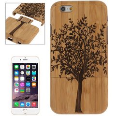 For iPhone 6 Tree Pattern Arc Border Separable Bamboo Wooden Case