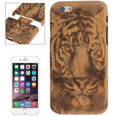 For iPhone 6 Tiger Pattern Arc Border Separable Bamboo Wooden Case