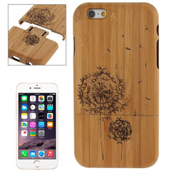 For iPhone 6 Dandelion Pattern Arc Border Separable Bamboo Wooden Case