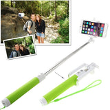 Portable Bluetooth Selfie Stick Monopod Extendable Handheld Holder Max Length: 80cm(Green)